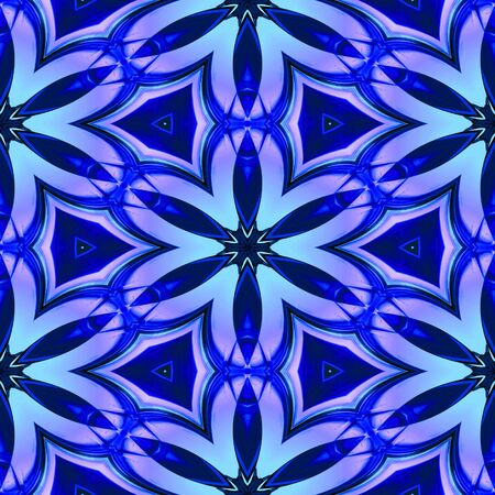 Abstract blue glasslike geometric texture or background made seamless Stock Photo