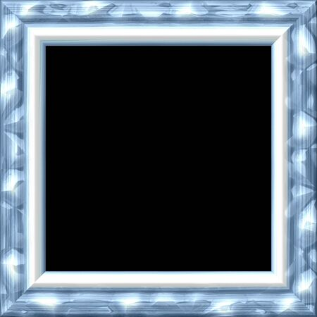 silver picture frame: Vintage silver metal or wooden frame with blue tint