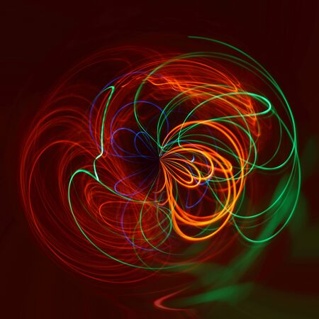 the light rays: Abstract colorful light rays in circular pattern Stock Photo