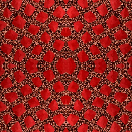 garnet: Abstract red garnet stone mosaic or background made seamless