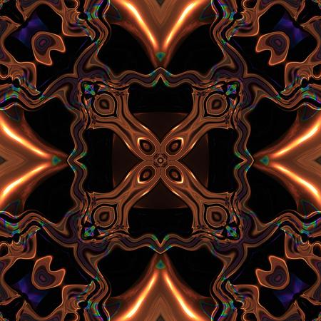 Abstract metallic bronze or viking celtic like pattern made seamless Stock Photo