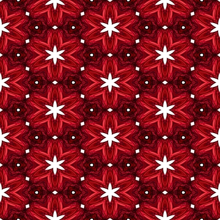 Abstract red texture or background with white stars with Christmas look made seamless 版權商用圖片