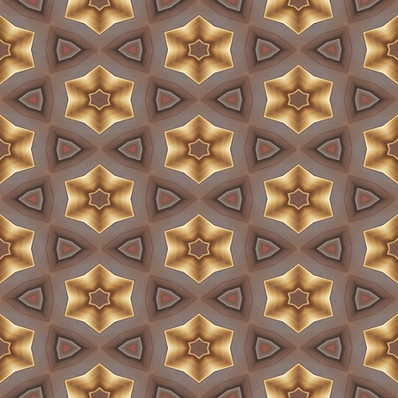 Abstract gold metal-like geometric texture or background made seamless