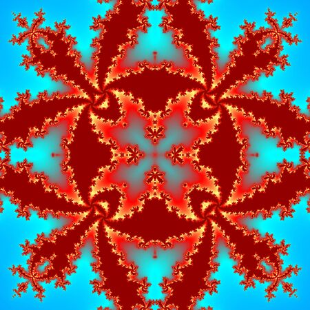 Seamless abstract red fractal pattern for Christmas or royal design
