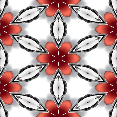 chromic: Seamless abstract chrome metallic texture or background Stock Photo