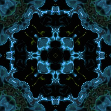 Abstracte blauwe transparante science fiction textuur gemaakt naadloze Stockfoto