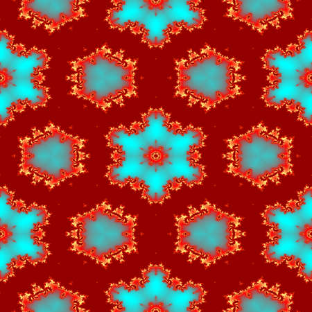 Seamless abstract red fractal pattern for Christmas design 版權商用圖片