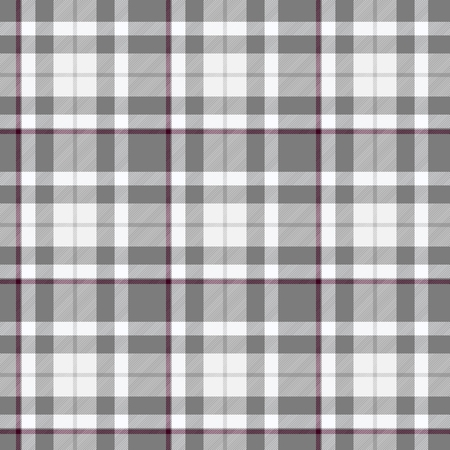 claret: Traditional trendy Scottish grey tartan pattern with claret stripe made seamless for kilt or bandana