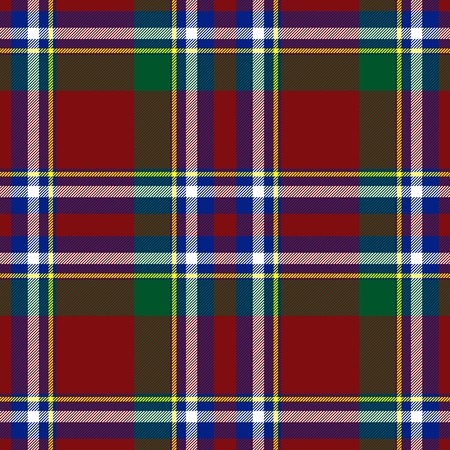 Traditional Scottish red, blue, green tartan pattern with white stripe made seamless for kilt or bandana 版權商用圖片