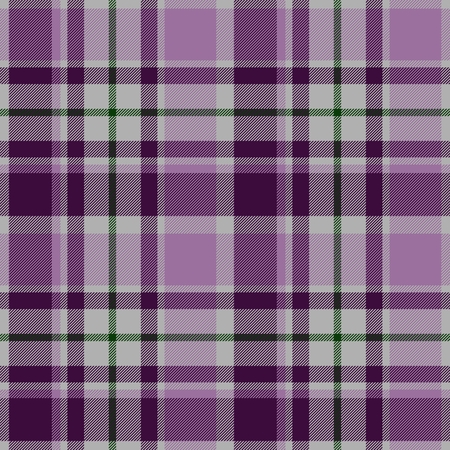 kilt: Traditional trendy Scottish pink tartan pattern with violet stripes made seamless for kilt or bandana
