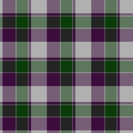 clan: Traditional trendy Scottish green tartan pattern with violet stripes made seamless for kilt or bandana Stock Photo