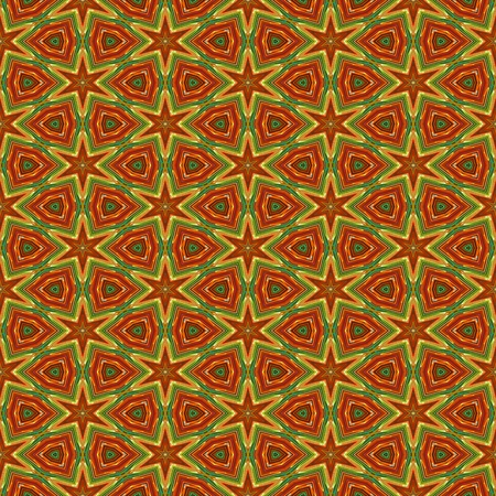 Seamless african colorful ornamental star pattern on fabric or carpet