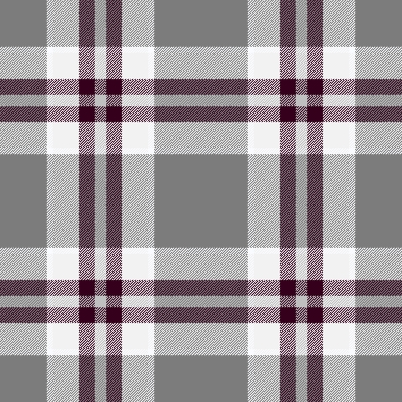 claret: Traditional Scottish grey tartan pattern with claret stripe made seamless for kilt or bandana