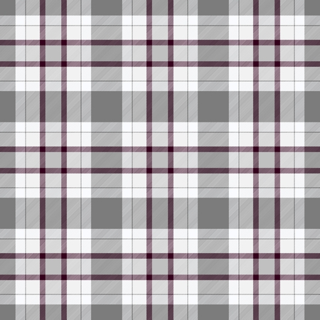scot: Traditional Scottish grey tartan pattern with claret stripe made seamless for kilt or bandana