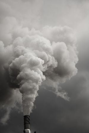 Smoke from talk Ecology problems photo