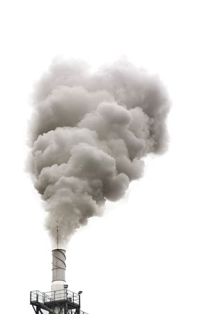 Dirty smoke isolated, ecology problems photo
