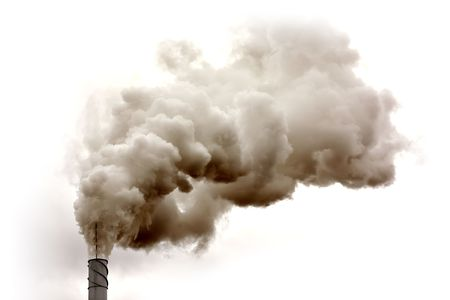 emissions: Dirty smoke isolated on the sky, ecology problems
