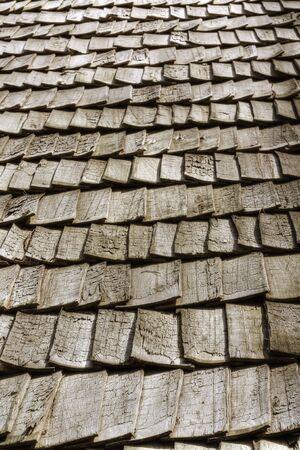 balsa: Wooden roof in perspective