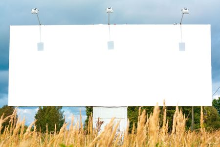 Billboard for advertisement on sky background Stock Photo - 6224630