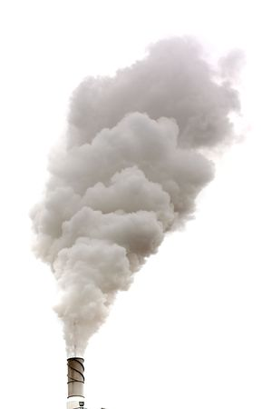 intoxication: Dirty smoke isolated, ecology problems