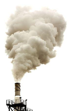 Dirty dymu odizolowane, problemy ekologii Zdjęcie Seryjne