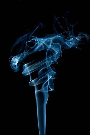 Dymu odizolowane na czarnym tle Zdjęcie Seryjne