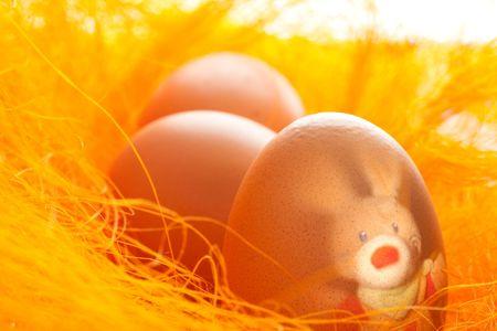 Zagnieżdżaj jaja wielkanocne z Zając na pomarańczowy