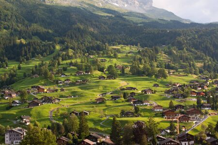 canton berne: View from the FIRST mountain in Switzerland