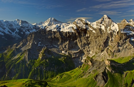 View from the Schilthorn mountain in Switzerland