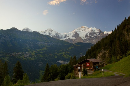 View on mountains in Switzerland Stock Photo - 8391430