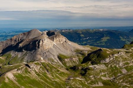 gloria: View from the Schilthorn mountain in Switzerland