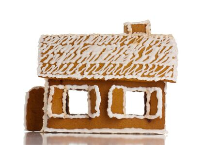 Gingerbread house on white isolated Stock Photo - 10507193