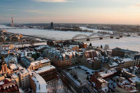 Widok na miasto w Rydze stolicy Łotwy