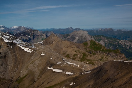 View from the Schilthorn mountain in Switzerland Stock Photo - 11059844