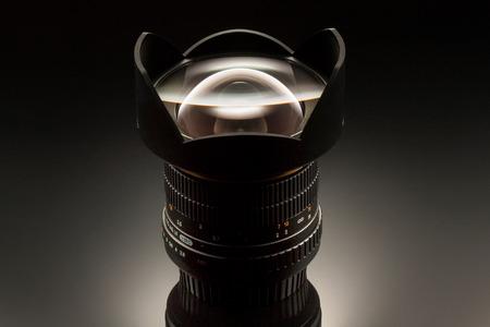 wide angle lens: Wide angle lens 14mm studio shot