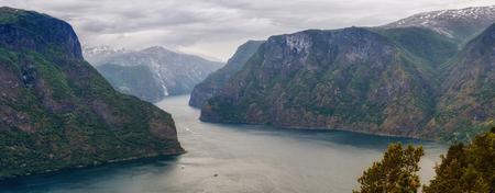 Panorama Of Stegastein Lookout in Norway