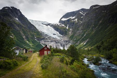Bøyabreen glacier in the Fjærland area in Sogndal Municipality in Sogn og Fjordane county, Norway. Standard-Bild