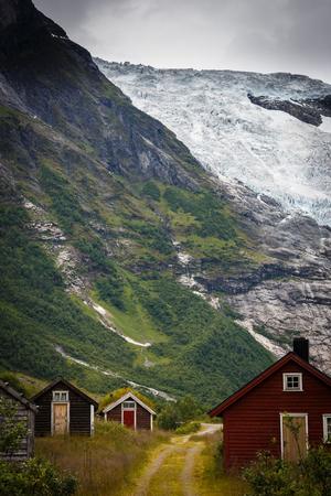 Bøyabreen glacier in the Fjærland area in Sogndal Municipality in Sogn og Fjordane county, Norway.