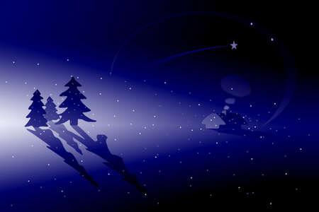 winter scenery: winter scenery (christmas atmosphere)