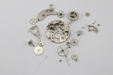 sorted: The sorted broken clockwork with a set of details