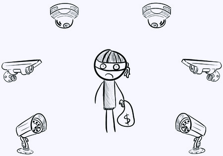 The robber under video camerasΠVector