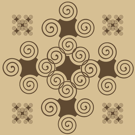 roundish: The abstract rounded-off element for design of patterns Illustration