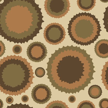 deformed: Seamless texture with the deformed circles in style a vintage