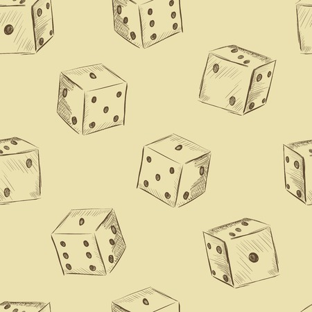 Dice a vintage seamless texture on a light background Vector
