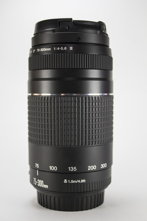 telephoto: Telephoto lens from the mirror camera with designations