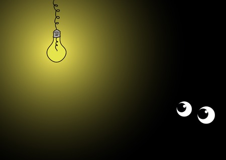 darkly: The shining electric bulb and two eyes
