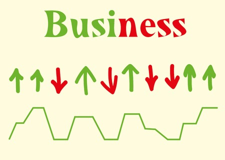 analysed: Business the schedule from an arrow of red and green color