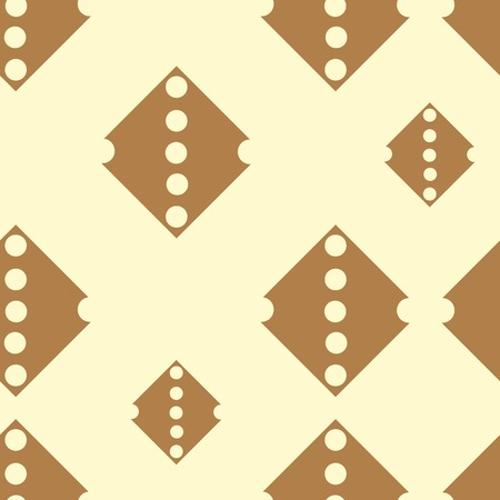 light brown: Brown rhombuses with holes on a light background seamless texture
