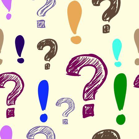 interrogativa: Pregunta y marcas de exclamaci�n color textura perfecta