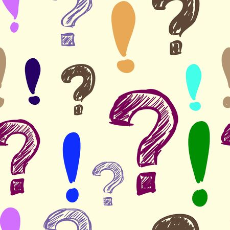 exclamatory: Question and exclamation marks colorful seamless texture